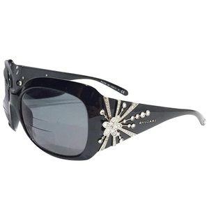Bvlgari limited edition crystal black sunglasses